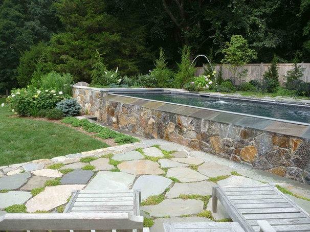 Modern Pool by Christensen Landscape Services