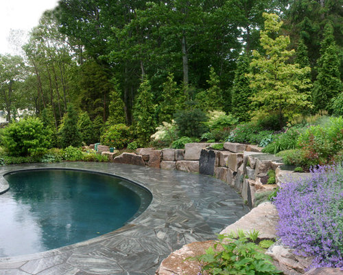 Pool landscaping houzz for Pool landscaping ideas