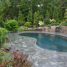 traditional pool by Woodburn & Company Landscape Architecture, LLC
