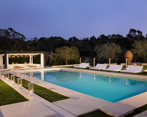 Fotos de piscinas dise os de piscinas mediterr neas con - Losas para piscinas ...