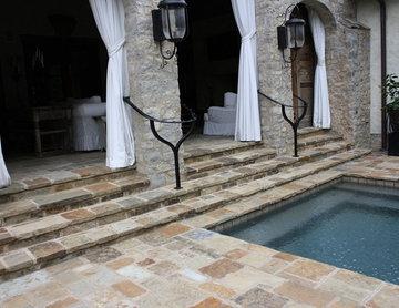 Malahide Natural Thin Stone Veneer Pool Area
