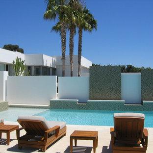 Pool - modern rectangular pool idea in Las Vegas