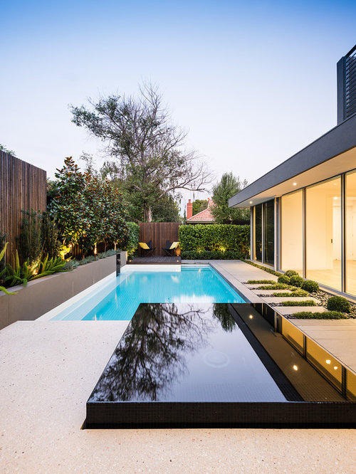 Modern outdoor design ideas renovations photos with a for Pool design questions