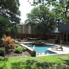Traditional Pool by Victor Myers Custom Homes & Real Estate