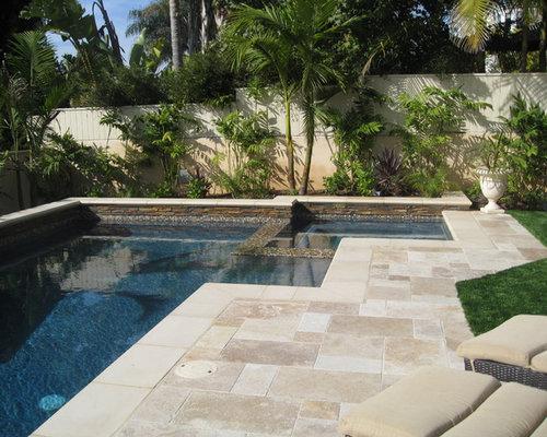 travertine pool deck | houzz