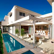 Contemporary Pool by Sanctum Design
