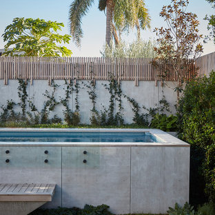 Inspiration For A Contemporary Backyard Aboveground Pool Remodel In Sydney