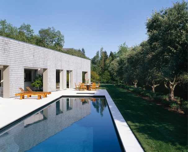 Contemporary Pool by Dirk Denison Architects