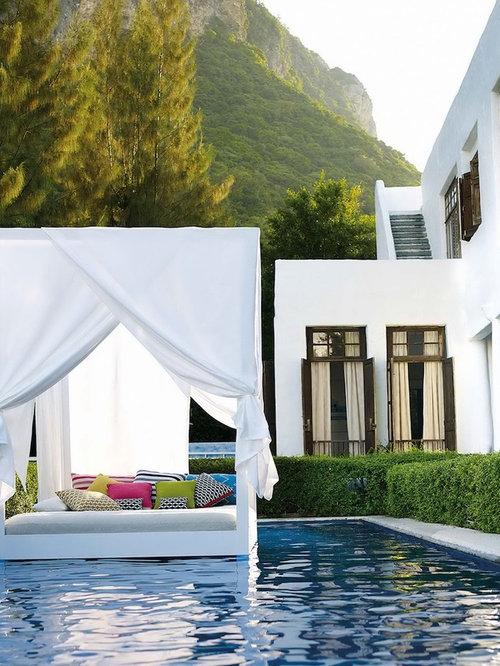 mediterrane outdoor gestaltung mit poolhaus ideen bilder. Black Bedroom Furniture Sets. Home Design Ideas