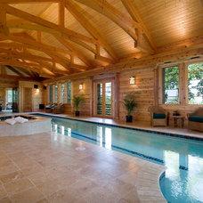 Traditional Pool by BlueStone Construction, LLC