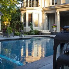 Traditional Pool by Beyond The Veranda