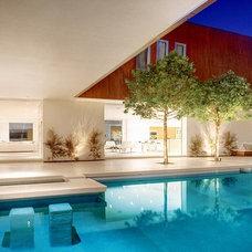 Contemporary Pool by Ferrugio Design + Associates
