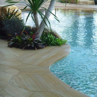 Masonry and Stone Work pool flagstone edging