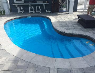 Masonry Chimney Work & Pavers around pool