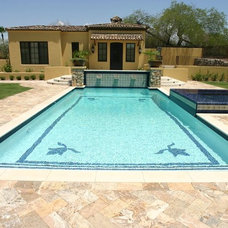 Traditional Pool by Red Rock Pools and Spas and Red Rock Contractors