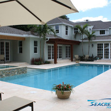 Traditional Pool by Seacrest Pools