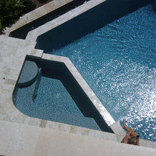 Contemporary Pool by Aquatech Pools GC, Inc