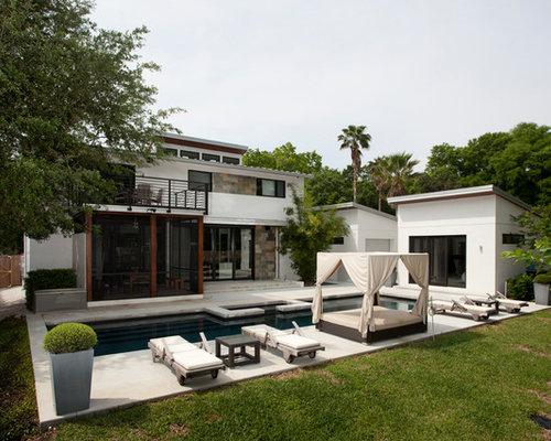 Fotos de piscinas dise os de casas de la piscina y for Casa moderna orlando