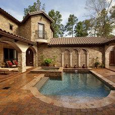 Mediterranean Pool by Morning Star Builders LTD