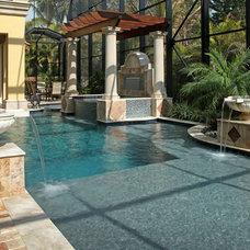 Mediterranean Pool by Weber Design Group, Inc.