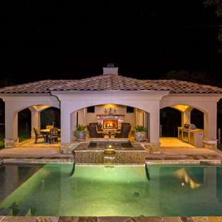 75 Most Popular Mediterranean Concrete Pool Design Ideas For 2019   Stylish  Mediterranean Concrete Pool Remodeling Pictures | Houzz