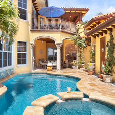 Mediterranean Pool by Andrew Roby General Contractors