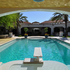 mediterranean pool by Exteriors By Chad Robert