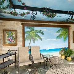 tropical pool by Benson Homes LLC