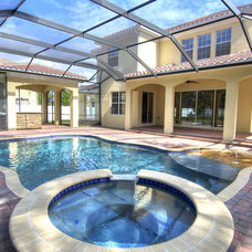 Mediterranean Pool by Javic Homes