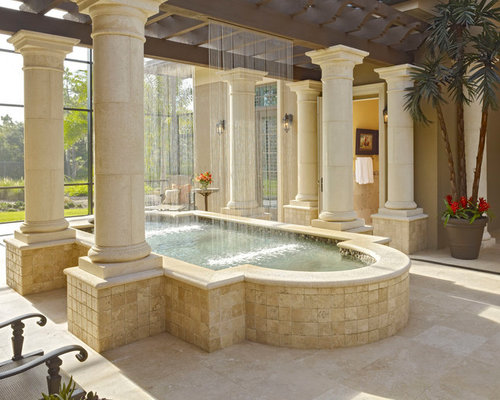 Spa Waterfall Home Design Ideas, Pictures, Remodel And Decor