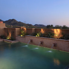 Mediterranean Pool by Schwab Luxury Homes and Interiors