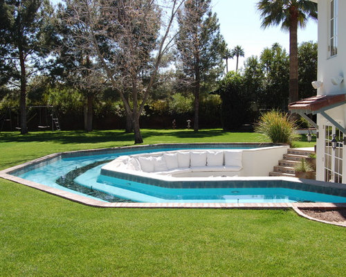 Tropical Backyard With Lazy River Pool Ideas Pictures