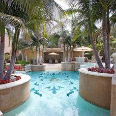 Mediterranean Pool by Steven Phillips Architect
