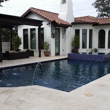 Mediterranean Style Estate Pool (Huntington)