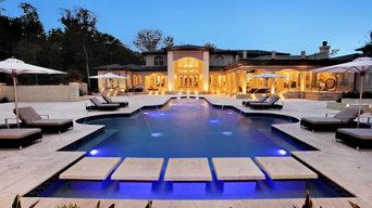 Mediterranean Swimming Pool And Backyard