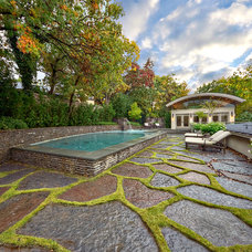 Midcentury Pool by Harold Leidner Landscape Architects