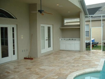 Traditional Pool by Travertine Warehouse