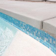 Modern Pool Mid-Century Pool Re-tiled