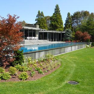 Modelo de piscina infinita retro