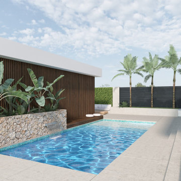MidMod House: Pool & Entertaining Area