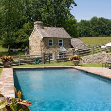 Farmhouse Pool by Orion General Contractors