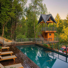 Farmhouse Pool by Riptide Construction