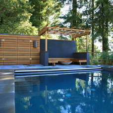 modern pool by The Garden Route Company