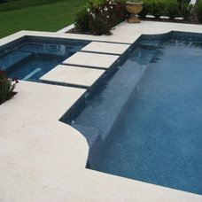 Traditional Pool by Mills Design Group, Inc