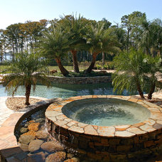Rustic Pool by Mills Design Group, Inc
