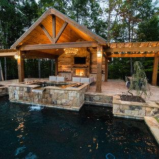 Inspiration for a craftsman pool remodel in Atlanta