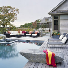 Transitional Pool by Interiors Studio Martha's Vineyard