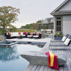 contemporary pool by Interiors Studio Martha's Vineyard