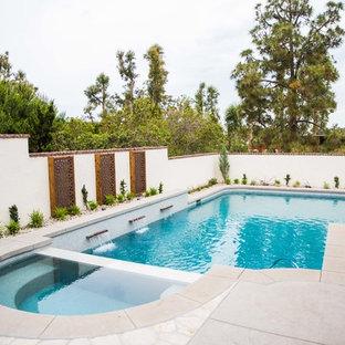 サンディエゴのトランジショナルスタイルのおしゃれなプールの写真