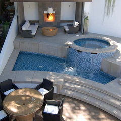 contemporary pool by MJ Lanphier